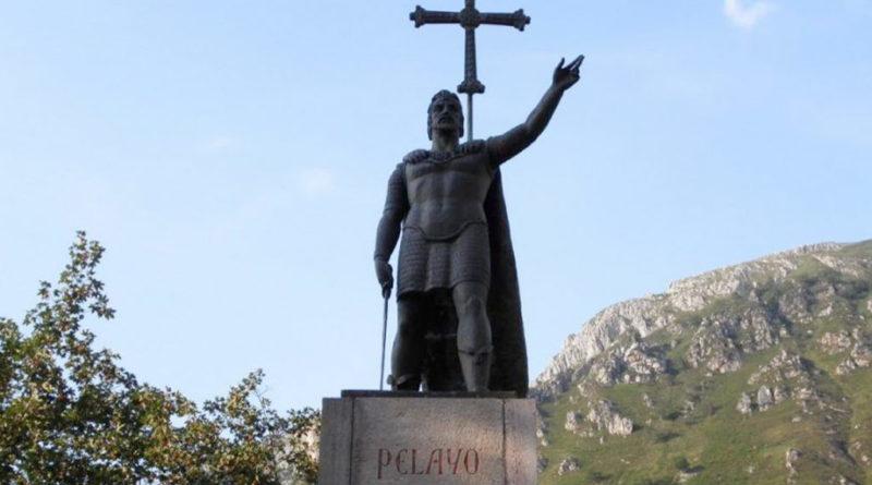 Don Pelayo en la Batalla de Covadonga