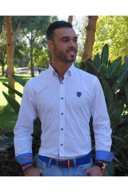 Camisa sport con coderas en azulonas