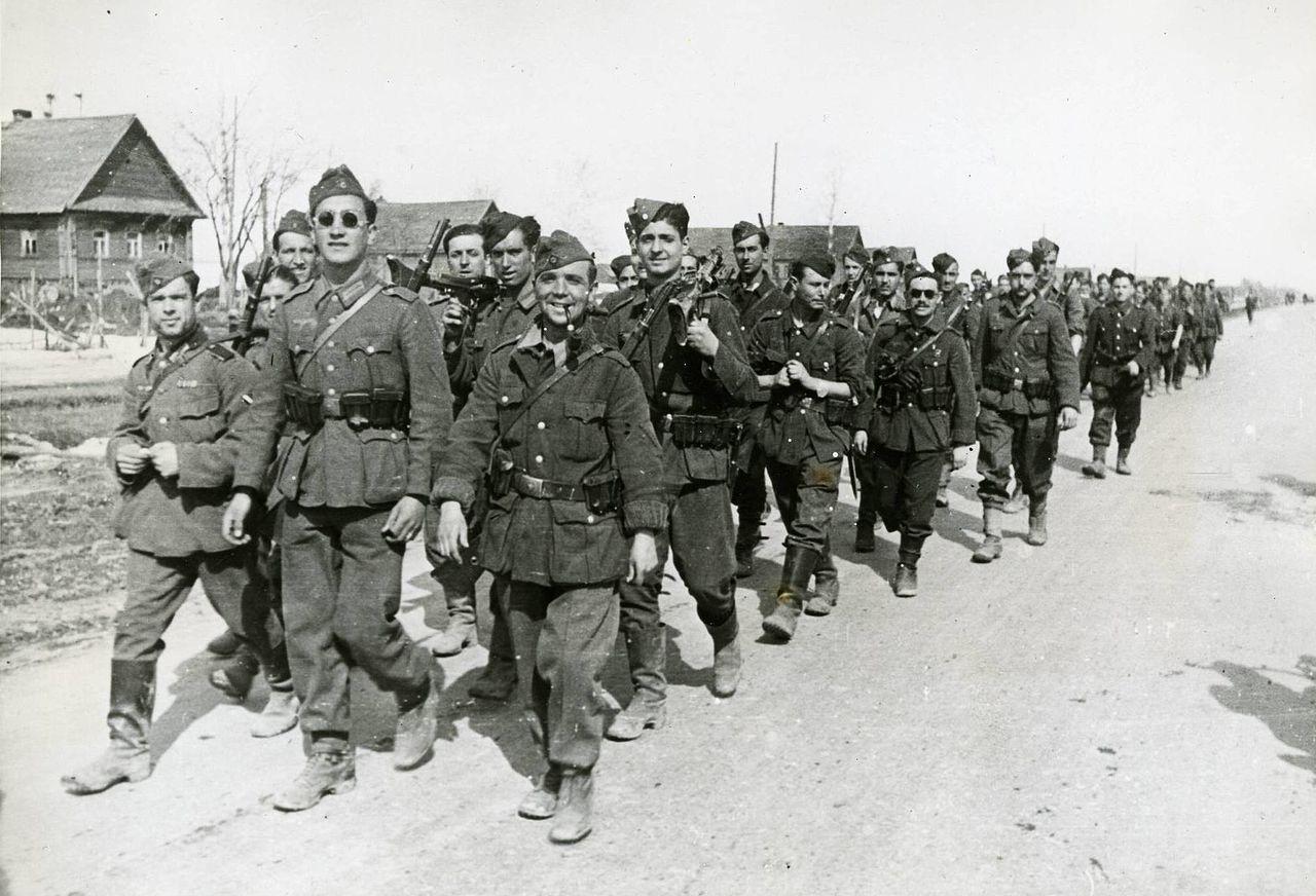 División Azul en Alemania durante las instrucciones