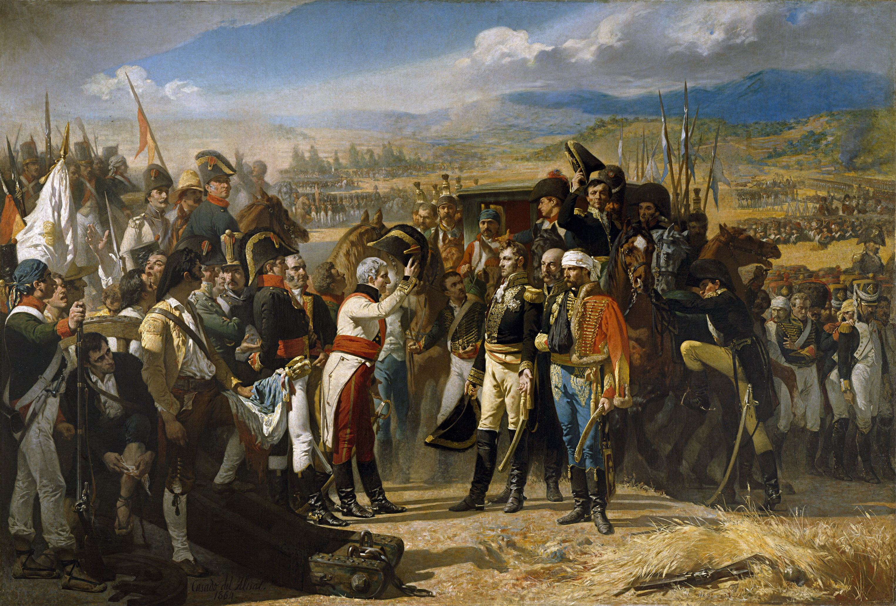"""""""La rendición de Bailén"""" de José Casado del Alisal"""