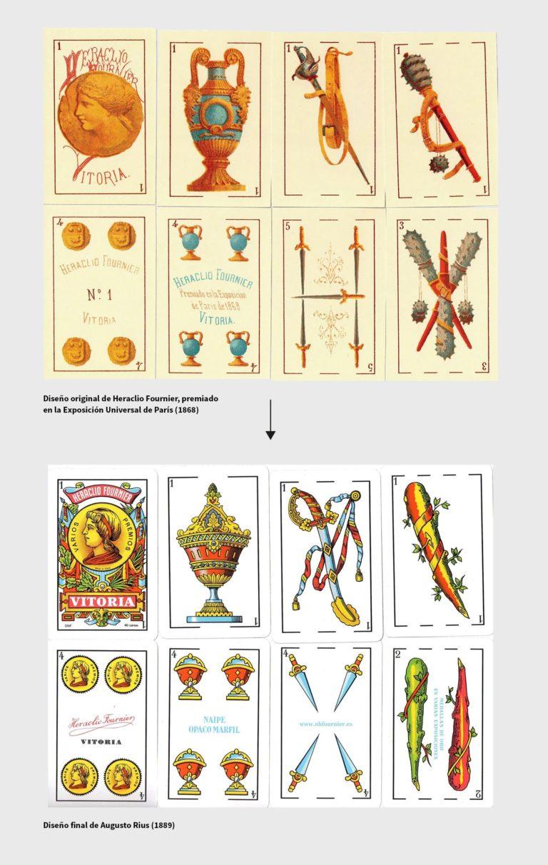 """(Imagen de Brandemia mostrando el salto del diseño original de 1868 a la revisión de 1889 aún usada hoy. Enlace en """"fuentes"""")"""