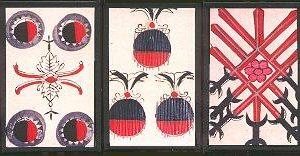 """(Antiguas cartas japonesas """"Unshun Karuta"""")"""