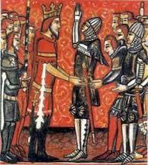 Infantes de Carrión piden al Cid la mano de sus hijas.