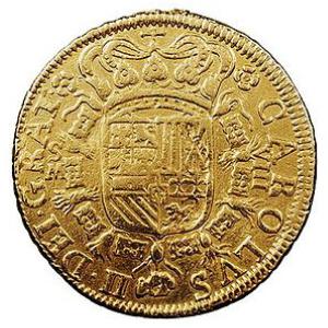 Moneda de 8 escudos de Carlos II