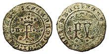 Moneda de 2 maravedís de Burgos
