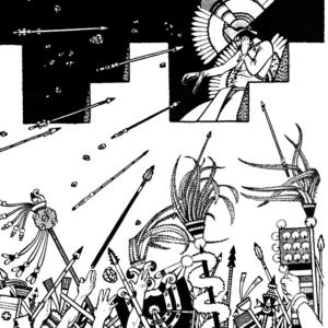 Moctezuma siendo atacado por los suyos