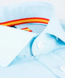 Camisa de vestir Celeste con Bandera España