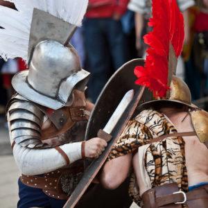 Gladiadores en el Arde Lucus