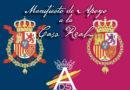 Manifiesto de apoyo a la Casa Real