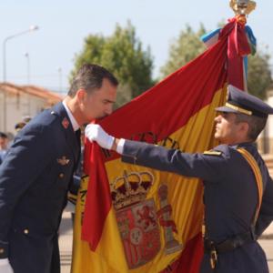 Su Maestad el rey Felipe VI en una jura de bandera