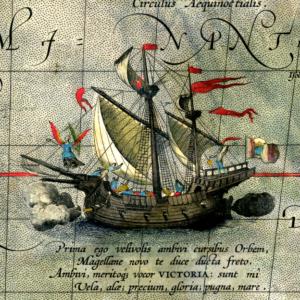 Nao Victoria, uno de los navíos de la expedición
